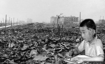 Hiroshima after genocidal bombing by U.S.