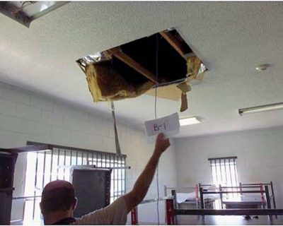 Damage at Holmes Correctional Facility in Florida.