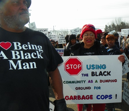"Protest against Dent beating April 3, 2015. Melendez bragged on the witness stand that he had been a narcotics cop for 24 years, including time spent with DPD as a ""crew chief member of a 12-man Special Operation Narcotics Enforcement Unit."""