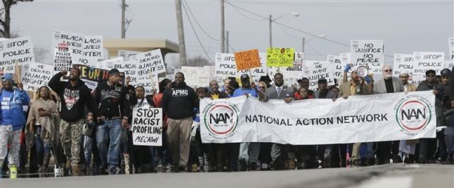 Thousands marched in Inkster in support of Floyd Dent on March 3, 2015.