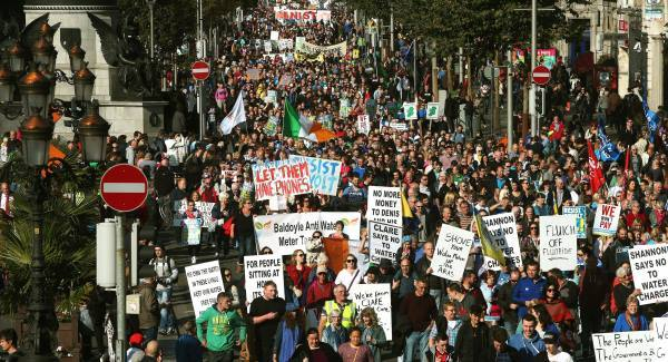 Irish people are flooding the streets week after week to stop water charges.