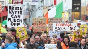 Protest in Donegal, Ireland.