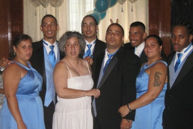 Izzy Colon (top center) and family at ceremony. Photo from brother Danny Colon's Facebook page,