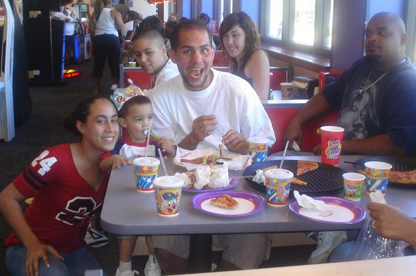 Izzy Colon and family; photo from MySpace