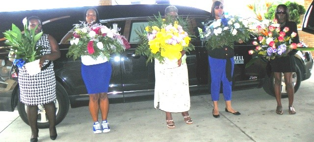 Flowerbearers for Jackson children outside church.