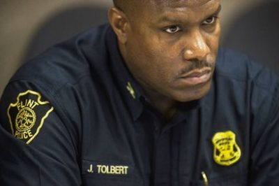 Former Detroit police investigator James Tolbert, who took Sanford confession, was fired as Flint's police chief in 2015.