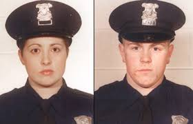 "Detroit officers Jennifer Fettig and Matthew Bowens, killed in 2004 during traffic stop. Audience appeared to have confused ""cop-killers"" with ""killer cops."""