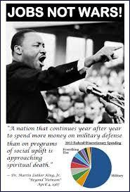 Jobs not wars MLK