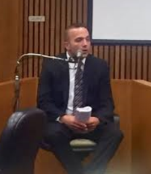 John Zieleniewski testifying. He was also present at the trial after his testimony.