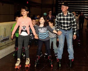 DPS EM Steven Rhodes roller skates with grandkids in seaside resort hometown of Cape May, N.J.