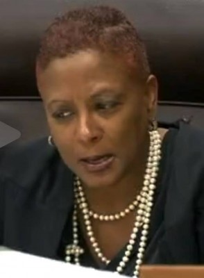 Judge Vonda Evans castigates actions of 'Robocop' Melendez for 20 minutes prior to sentencing him.