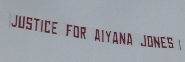 Justice for Aiyana Jones banner