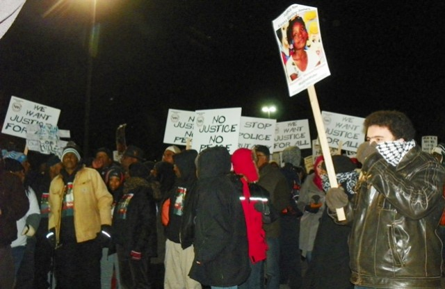 Marchers remembered Aiyana Jones, 7, shot to death by Detroit police May 16, 2010.