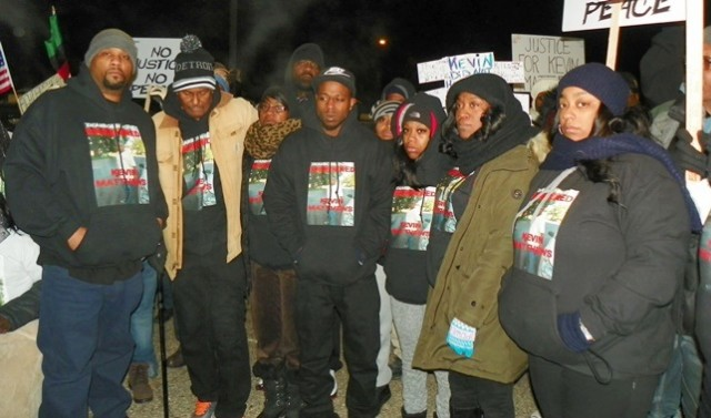 Kevin Matthews family gathers for march; mother Valerie Johnson