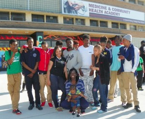 Some of the youth who participated in the Cody rally posed outside for VOD photo.