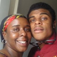 "Kimberly Davis with son Kimoni ""Kodak"" Davis. FB page."