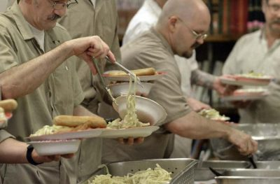 Slop for dinner at Kinross Prison