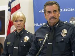 LAPD Chief Charlie Beck during press conference on shooting of Africa.