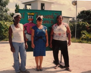 Workers at La Guinera Community Center, which provides day care, a polyclinic, and recreational facilities for young and old.