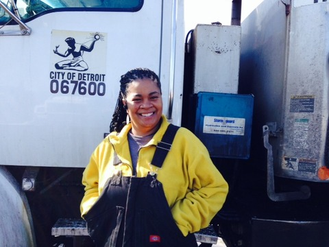 DPW worker LaDonna Nash/Photo credit: WSWS