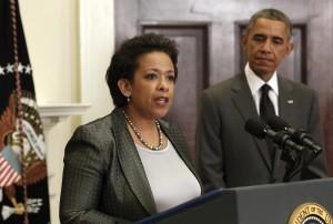 U.S. Attorney General Loretta Lynch with Pres. Barack Obama