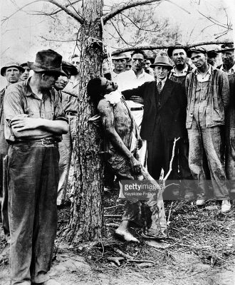 Have the times really changed? Lynching of Black man accused of rape in Royston GA around 1935.