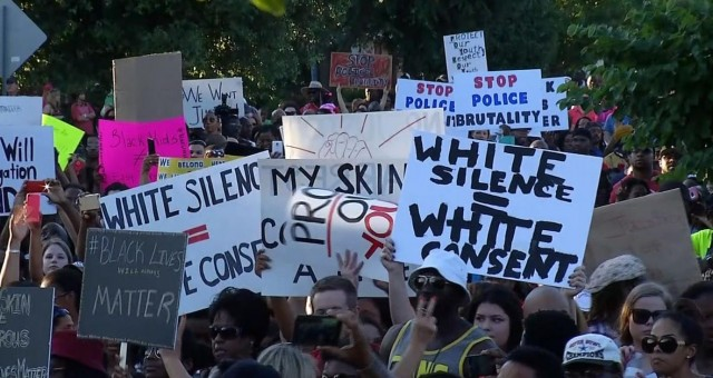 June 8 rally against racist police brutality in McKinney Texas also included whites.