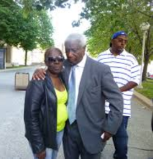 Mertilla Jones and Ron Scott after June, 2013 mistrial declared in Weekley case,