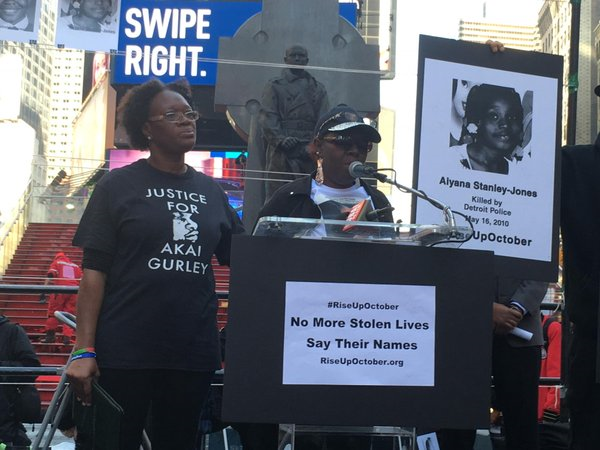 NYPD RIOTS AGAINST #RISEUPOCTOBER MARCHERS IN TIMES SQUARE, RIKERS
