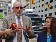 Defense Attorney Michael Deutsch with Rasmea Odeh