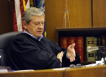 Wayne County Circuit Court Judge Michael Hathaway speaks from the bench Friday Jan. 4, 2013 in Detroit. Photo: Detroit News