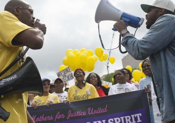Mother's Day march in Washington, D.C. by mothers who lost their chidren to police violence, May 9, 2015. It was organized