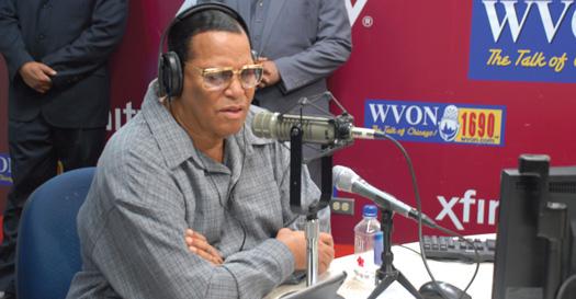 NOI Min. Louis Farrakhan speaks on Black Chicago radio station Dec. 17, 2015.