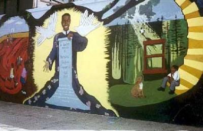 Mural at Nicholas Naquan Heyward Park