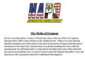 "NAPO report on ""The Myths of Ferguson"""