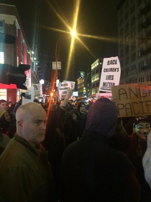 Protest over Tamir Rice grand jury decision in NYCs