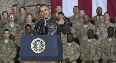 U.S. President Barack Obama has boots on the ground in Syria, across the globe.