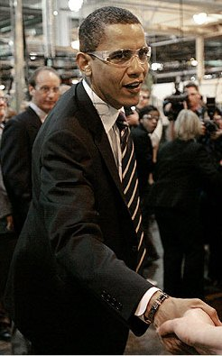 Pres. Barack Obama touring Chrysler Warren Stamping Plant.