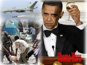 U.S. Pres. Barack Obama, CIA headed overthrow of Muammar Gaddafi in Libya, destruction of developed country's infrastructure.