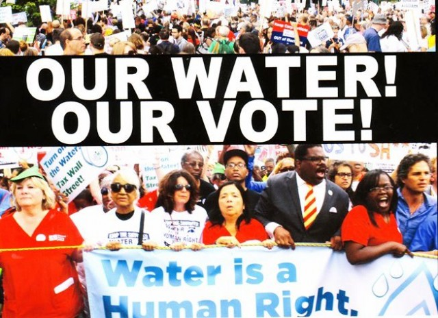 JOIN THE PETITION CAMPAIGN FOR A REFERENDUM VOTE ON THE CITY OF DETROIT CONTRACT WITH THE GREAT LAKES WATER AUTHORITY.
