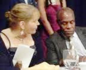 Pati Heinz with another Pinkney supporter, actor Danny Glover, during BANCO banquet in 2012.