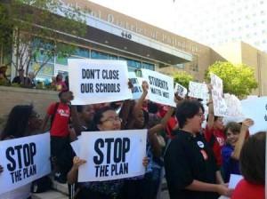 Protest against school closings in Philadelphia.