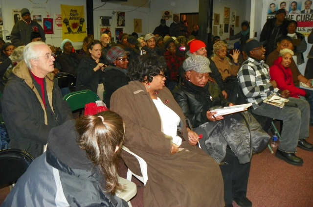 Rev. Pinkney's wife Dorothy Pinkney is in front row, with grey hat, during meeting Nov. 17 in Detroit.