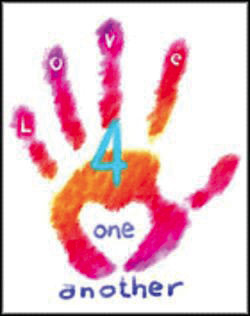 "Logo for Prince's charity known as ""Love 4 One Another""."