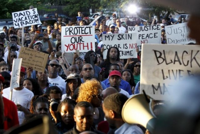 One of thousands of protests against police murders of Black, Latin and poor youth across the U.S.