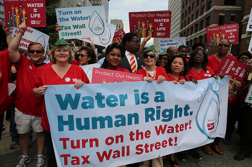 HUMAN RIGHTS COALITION SUES TO BAR WATER SHUT OFFS IN