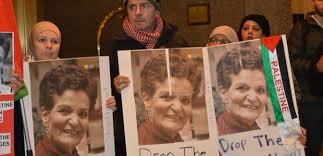 Supporters of Rasmea Odeh