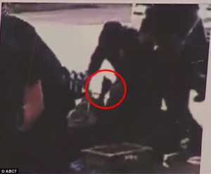 Mainstream media claimed this inset from video shows Africa reaching for cop's gun. Well, WHAT IS THAT?