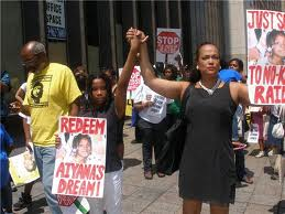 "March in June, 2010 to ""Redeem Aiyana's Dream."" Photo: Herb Boyd"