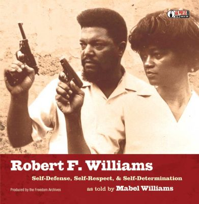 "Cover of famed activist Robert WIlliams' book ""Negroes with Guns."""
